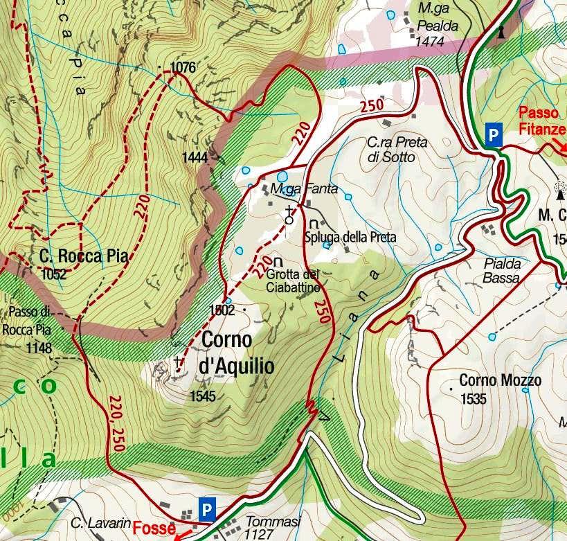 Corno d'Aquilio map