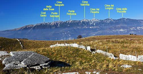 Monte Baldo annotated
