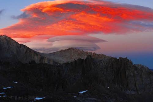 Mt Whitney Zone, The High Sierra, CA (Lenticular Cloud)