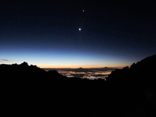Dawn on Mexican volcanoes