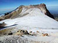 Ayoloco glacier, looking back