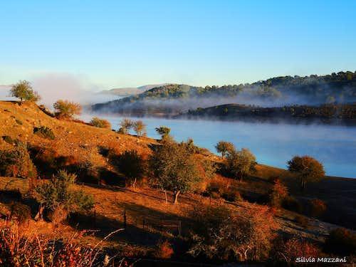 Morning mist on the Lago Alto di Flumendosa