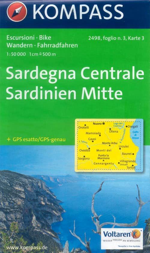 Sardinia Kompass map