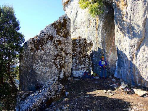 Perda 'e Liana, start of the route
