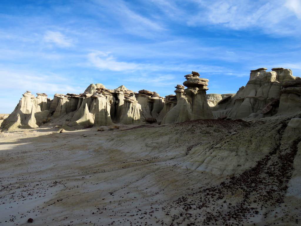 Fossil Hoodoo area