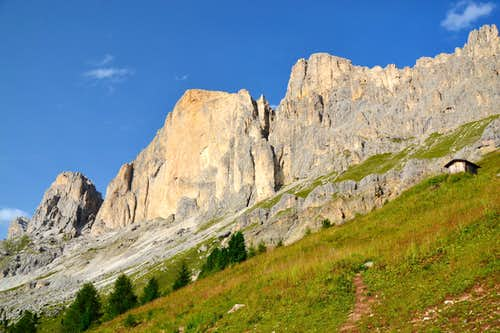 Rotwand, Teufelswandspitze and Masarè crest