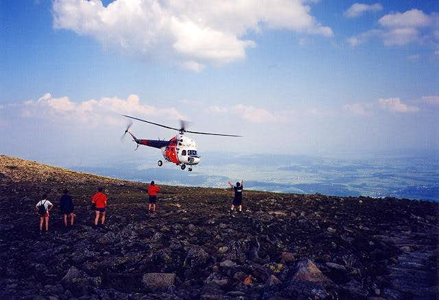 Rescue action on the Babia...