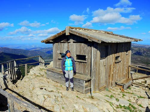 Fire lookout shelter on the top of M. Novo San Giovanni