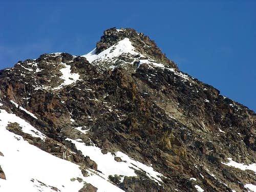 La punta Coppi (3231 m  )   from punta di Arpisson