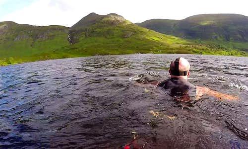 Swimming in Loch Affric