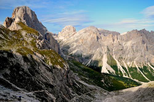 Rosengartenspitze (Cima Catinaccio) and the Antermoia mountains