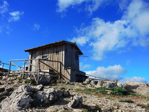 The refuge for fire monitoring on the summit of Monte Novo San Giovanni
