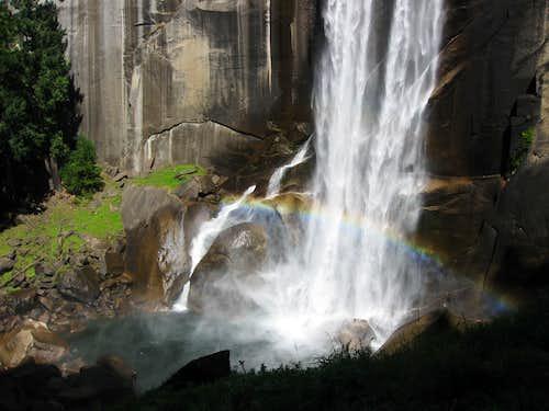 Rainbow at the Base of Vernal Falls