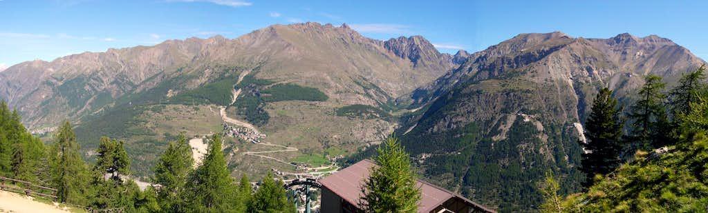 Northwards view from Belvedere del Montzeuc