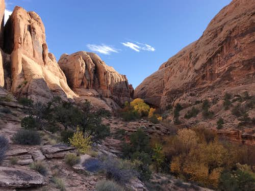 Approach to Morning Glory Arch