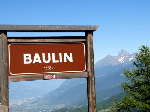 Profile of Monte Emilius Group from Baulin Hamlet 2017