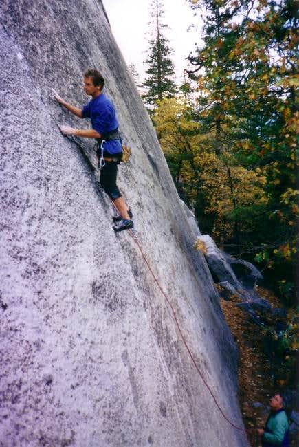 Kris climbing