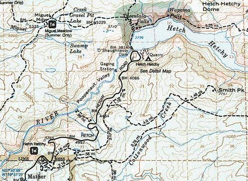 Map of Smith Peak trails and...