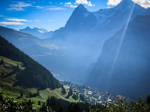 Mürren and the Eiger