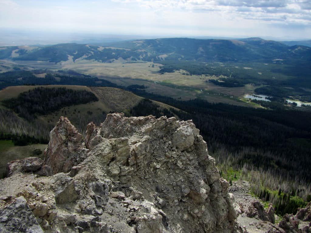 Soda Lake Basin seen from Lander Peak
