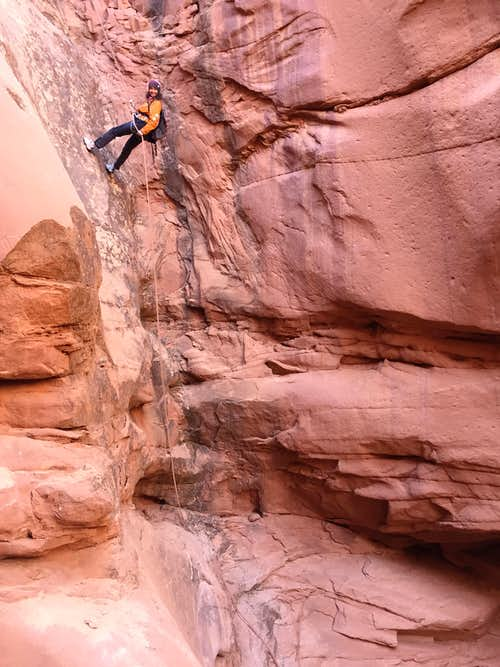 Rappel into Three Canyon