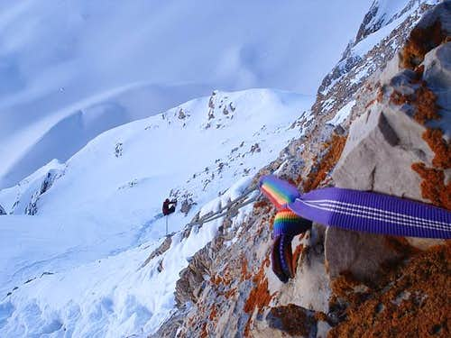 Rappelling into the avalanche...