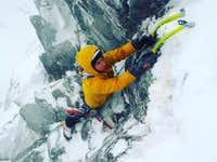Mixed climbing in Tatra Mountains