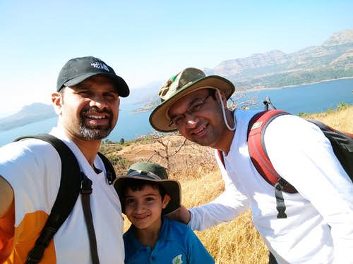 Us 3, with Mulshi Backwaters Behind us