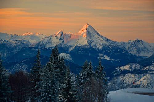 The Berchtesgaden Alps at sunrise