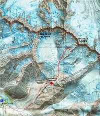 Map of Triolet glacier