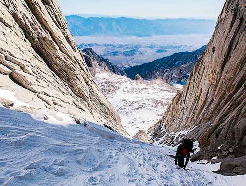 Climbing Mount Whitney Snow Chute