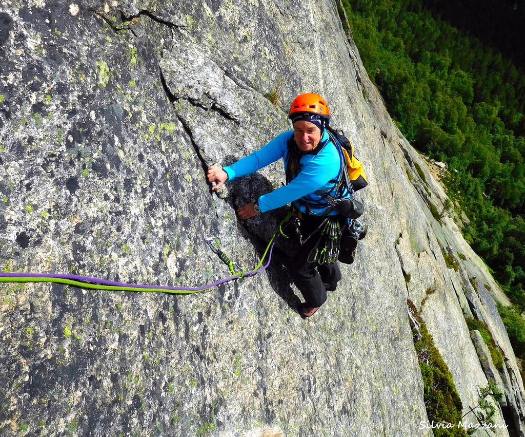 Negotiating a smooth slab on Blue, Loefjell