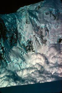 Avalanche down NW Ruth Glacier