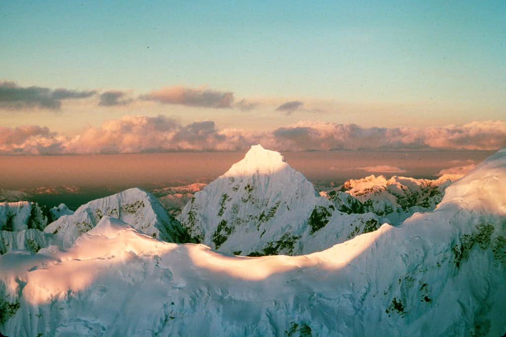 View of Mt. Huntington from East Buttress