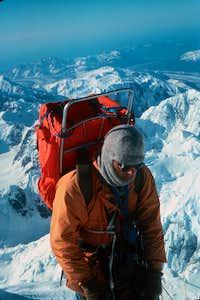 Summiting Denali East Buttress