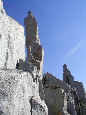 Some of the jagged pinnacles...