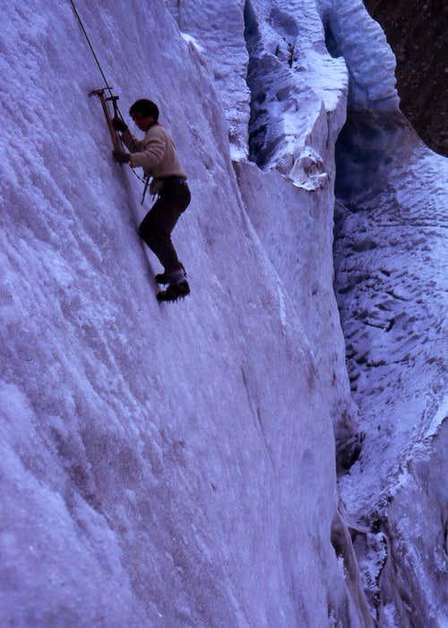 David Nesbit ice climbing