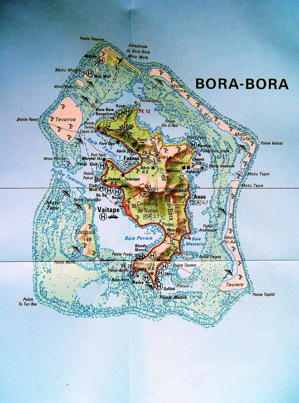 Bora Bora Map : Photos, Diagrams & Topos : SummitPost