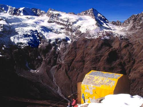 View from Money bivouac of...