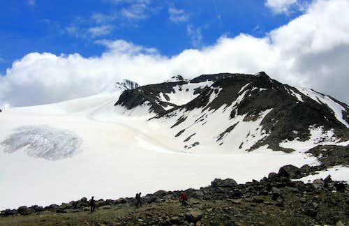 On the morain toward the Niederferner glacier