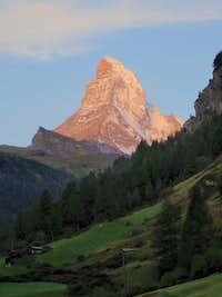 Matterhorn at Sunrise from Zermatt