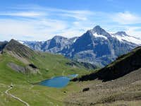 Bachsee with Wetterhorn and Uri Alps at the background