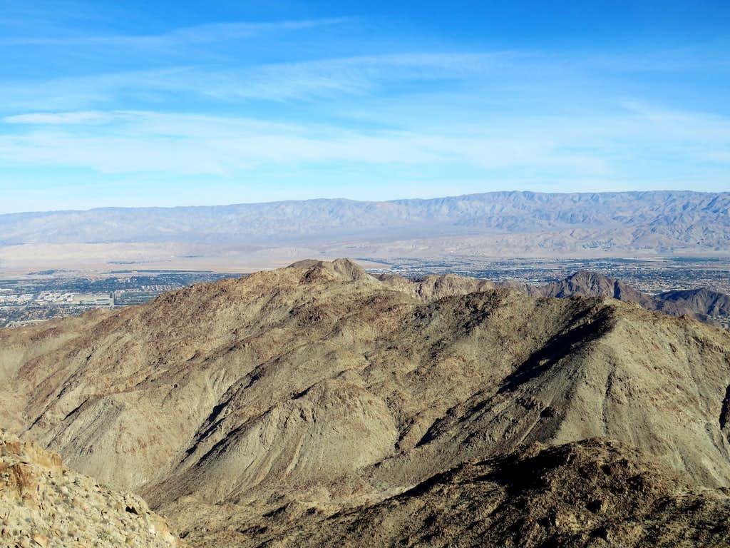 Indio Mountain (front) & Little San Bernardino Mountains (far)