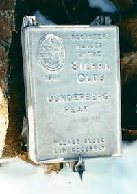 Dunderberg Peak summit