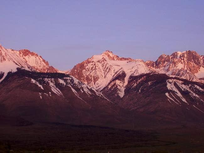 Cardinal Mountain(center) as...