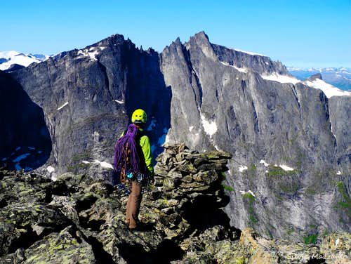 Trollveggen seen from the summit of Romsdals Horn