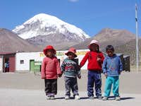 children in the Sajama...
