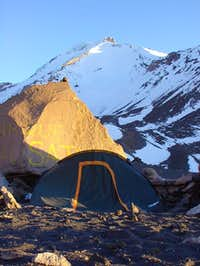 camp in about 5150m. south...