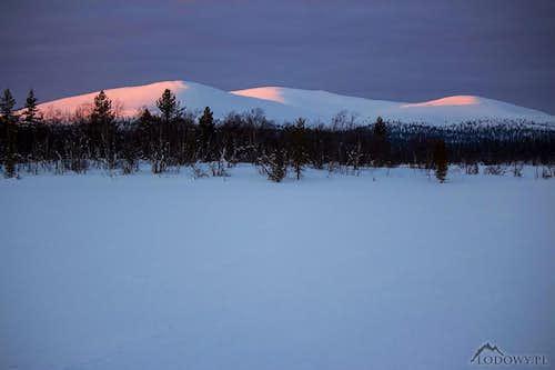 Evening lights on Lupukkapaa