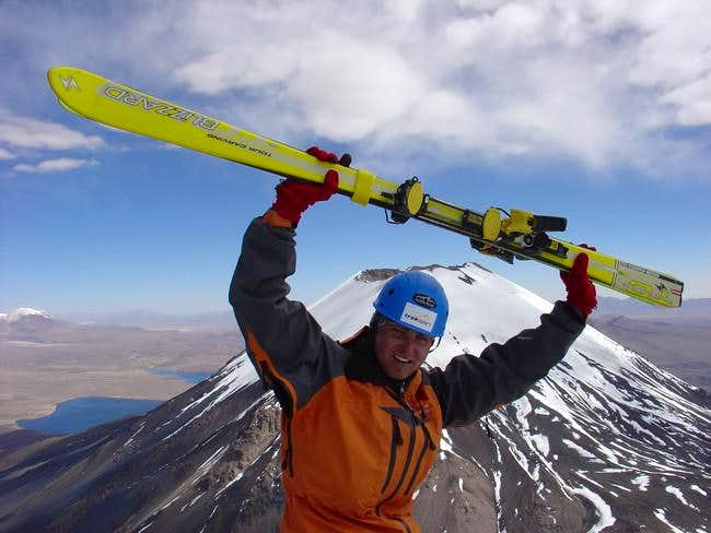 on the top with parinacota in...